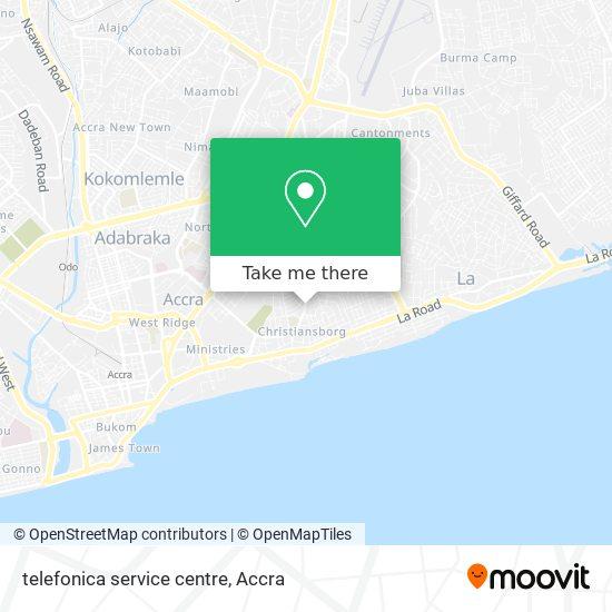 telefonica service centre map