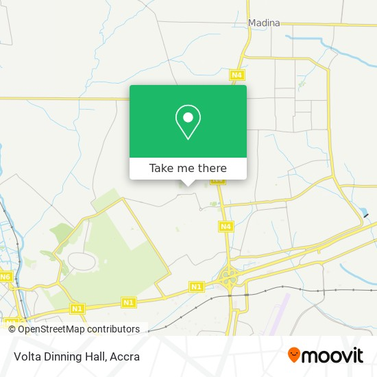 Volta Dinning Hall map