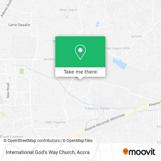 International God's Way Church map