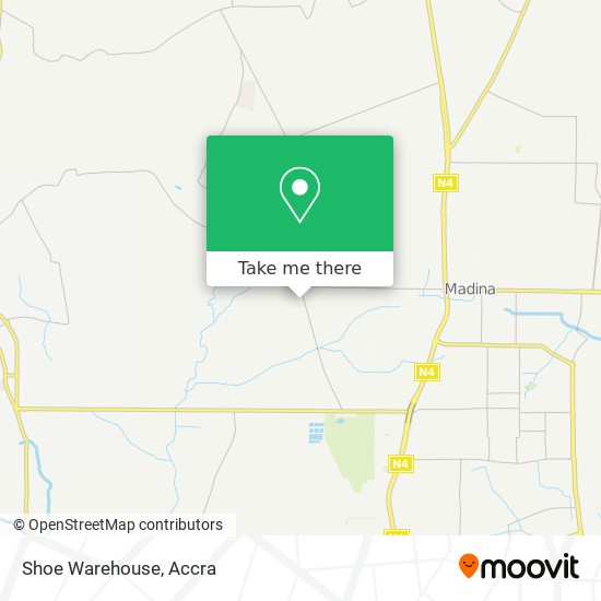 Shoe Warehouse map