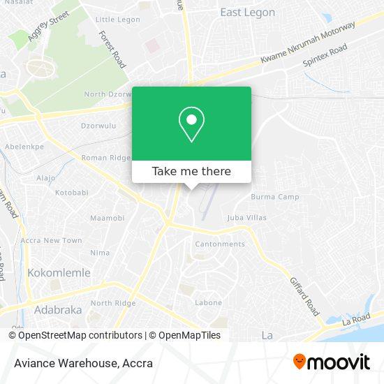 Aviance Warehouse map