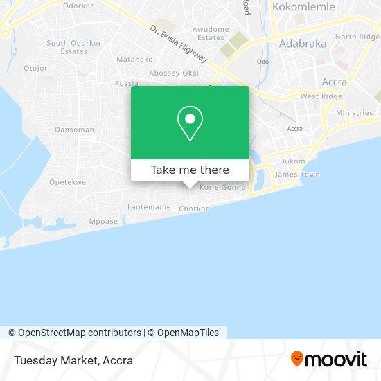 Tuesday Market map