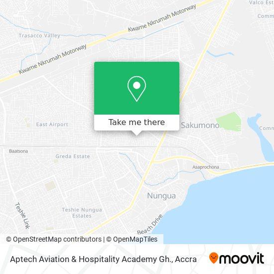 Aptech Aviation & Hospitality Academy Gh. map