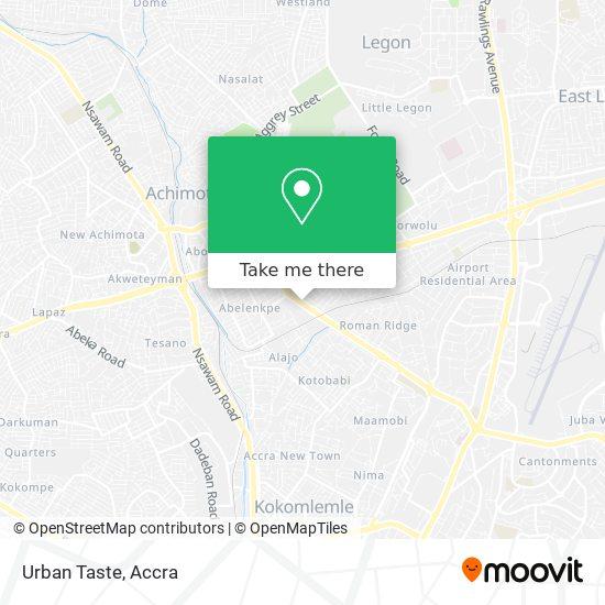 Urban Taste map