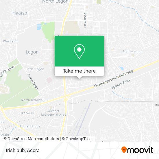 Irish pub map