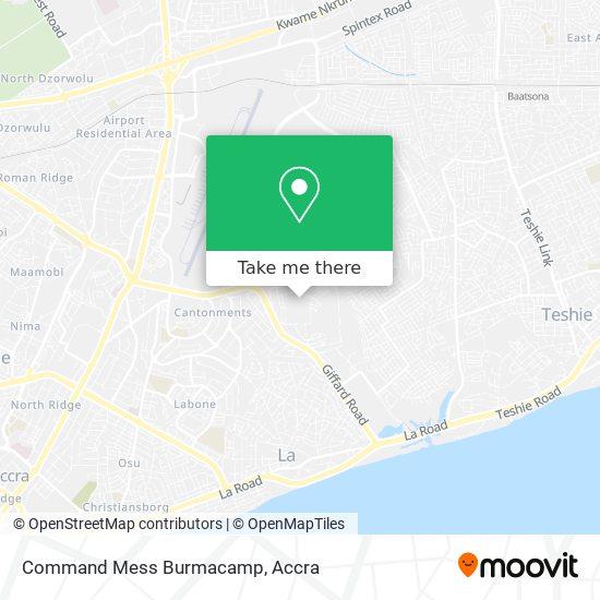 Command Mess Burmacamp map