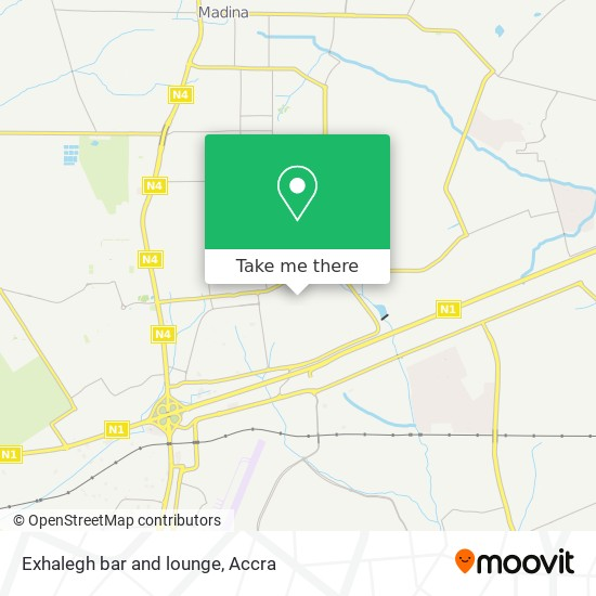Exhalegh bar and lounge map