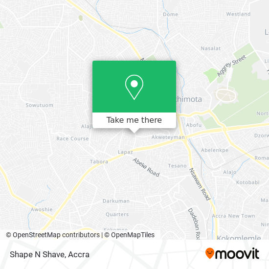 Shape N Shave map