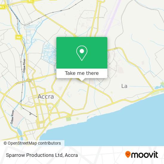 Sparrow Productions Ltd map
