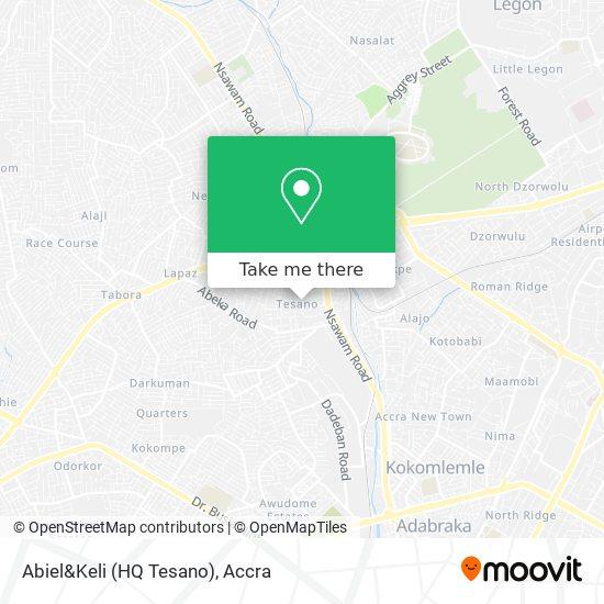 Abiel&Keli (HQ Tesano) map