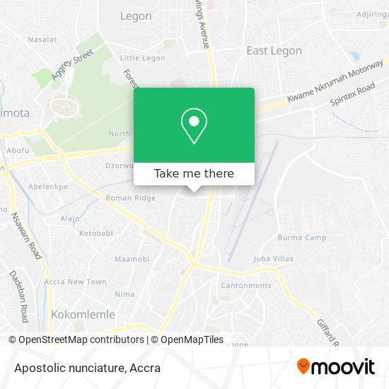 Apostolic nunciature map