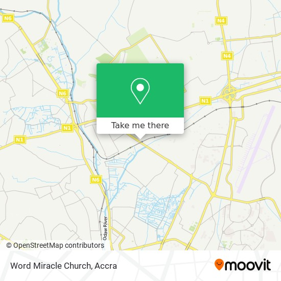 Word Miracle Church map