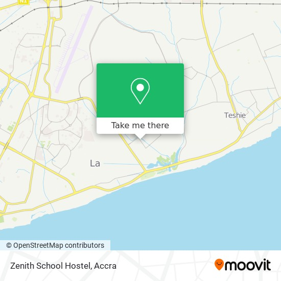 Zenith School Hostel map