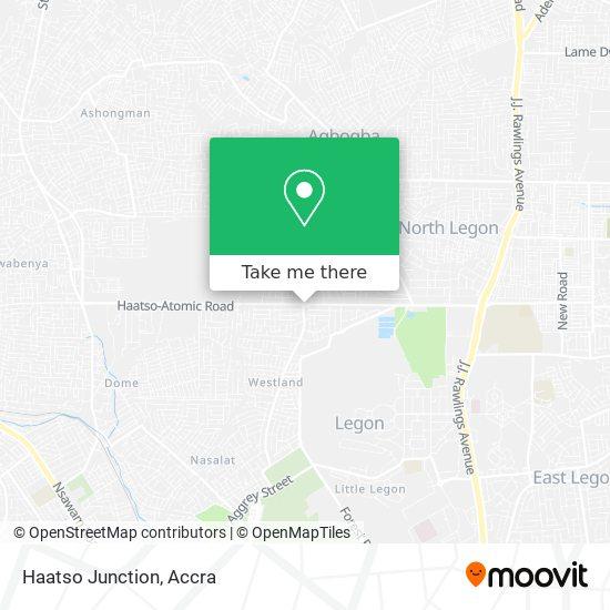 Haatso Junction map