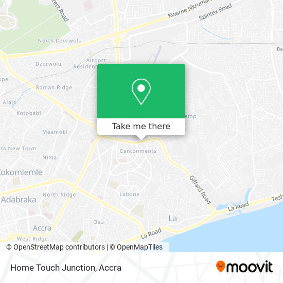Home Touch Junction map