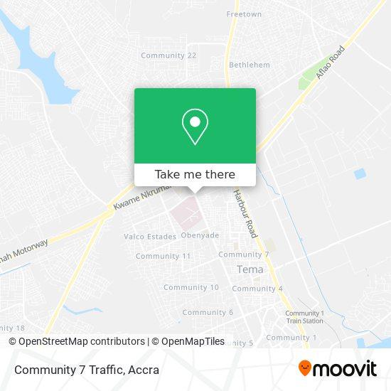 Community 7 Traffic map