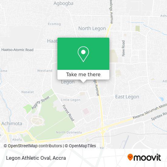 Legon Athletic Oval map