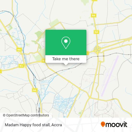 Madam Happy food stall map