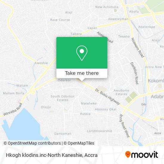 Hkogh klodins.inc-North Kaneshie map