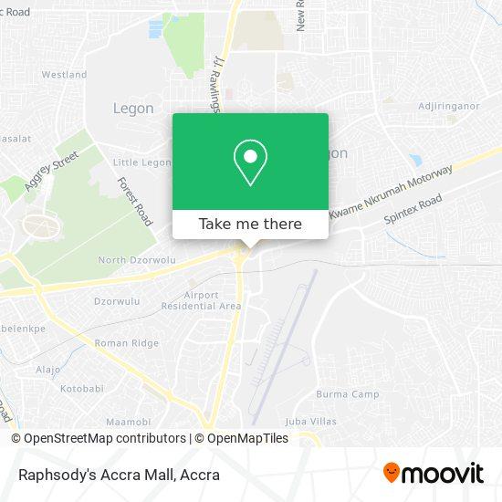 Raphsody's Accra Mall map