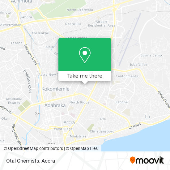 Otal Chemists map