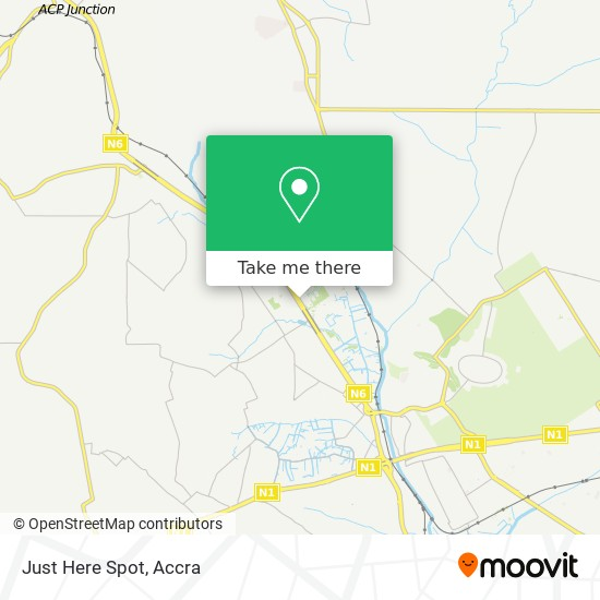 Just Here Spot map
