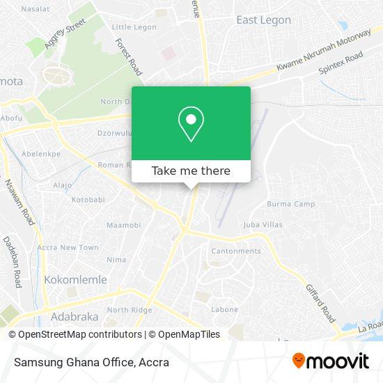 Samsung Ghana Office map