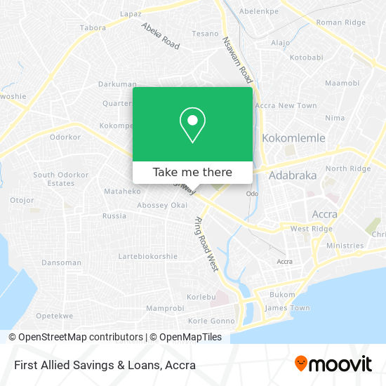 First Allied Savings & Loans map