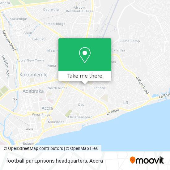 football park,prisons headquarters map