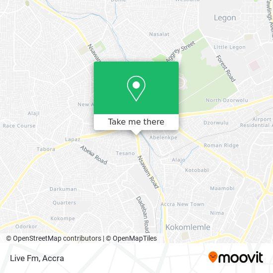 Live Fm map
