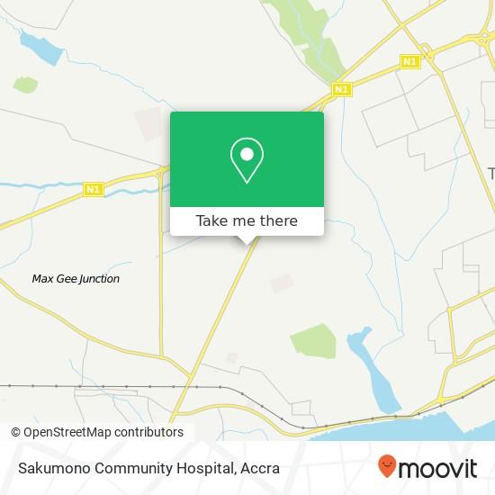 Sakumono Community Hospital map
