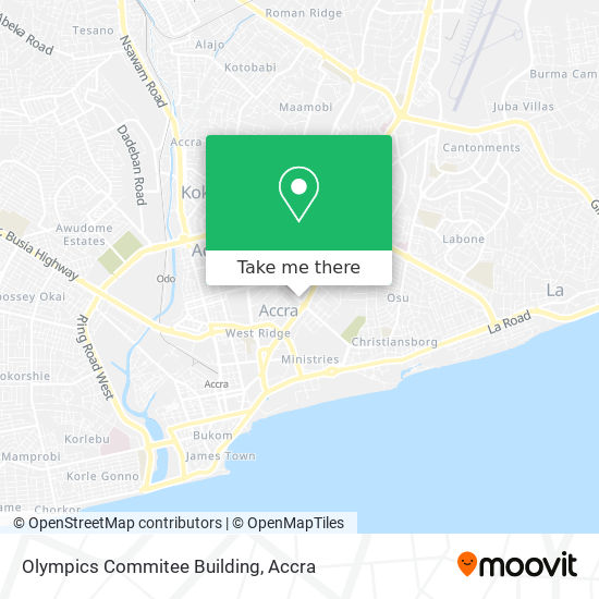 Olympics Commitee Building map