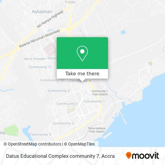 Datus Educational Complex community 7 map