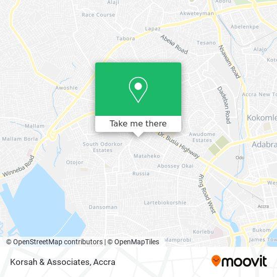 Korsah & Associates map