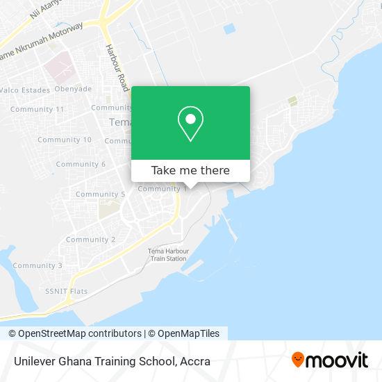 Unilever Ghana Training School map