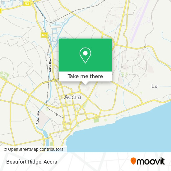 Beaufort Ridge map