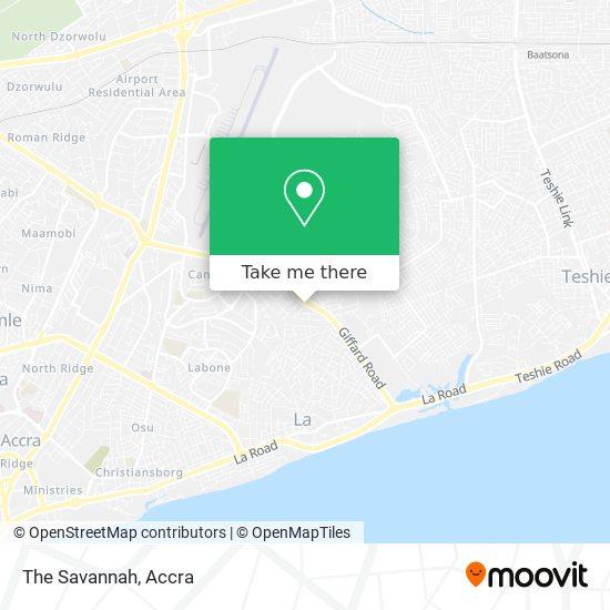 The Savannah map