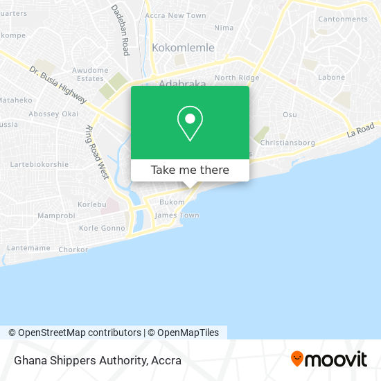 Ghana Shippers Authority map