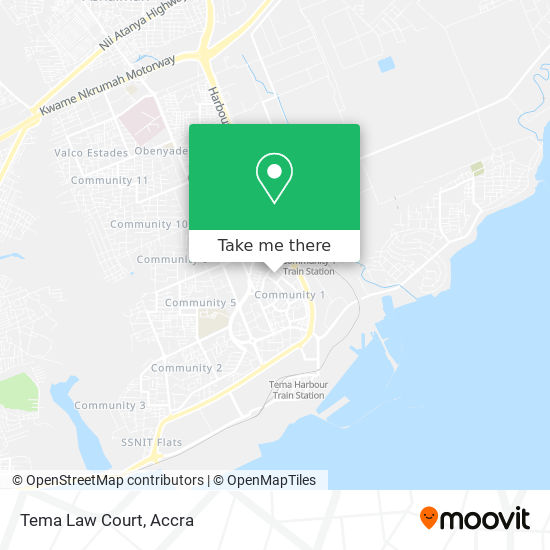Tema Law Court map