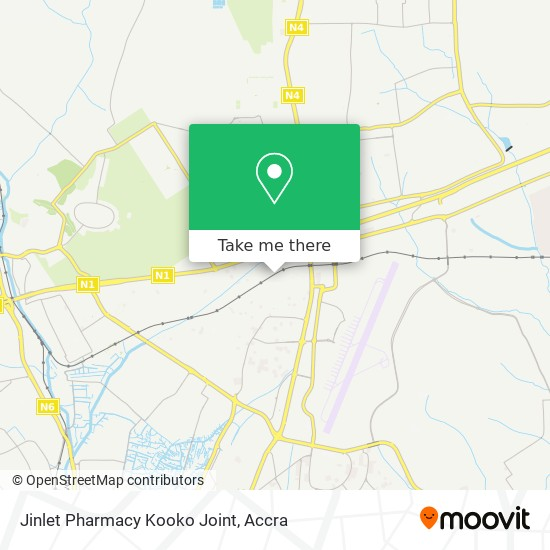 Jinlet Pharmacy Kooko Joint map