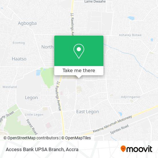 Access Bank UPSA Branch map