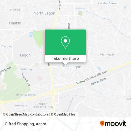 Gifred Shopping map