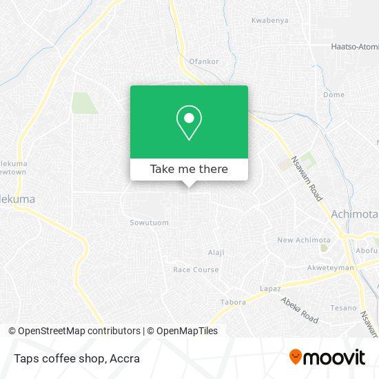 Taps coffee shop map