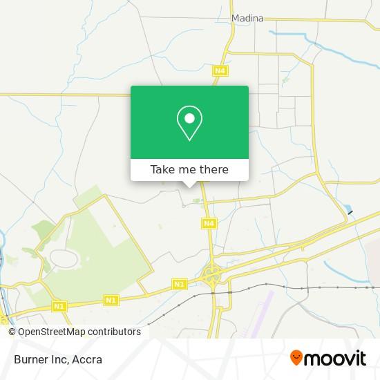 Burner Inc map
