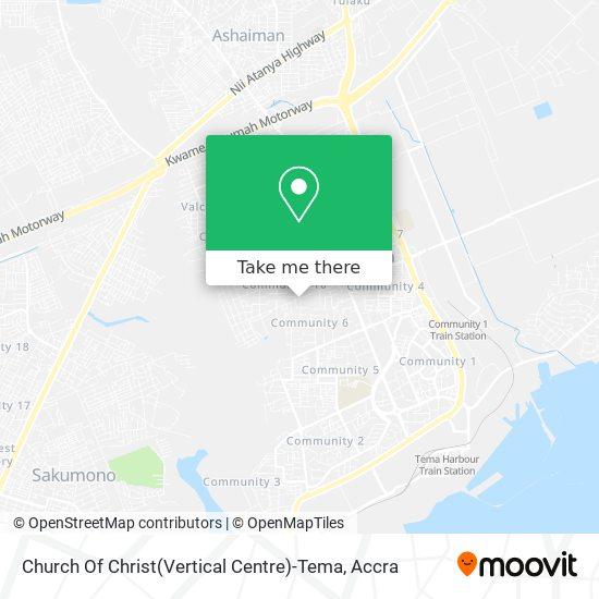 Church Of Christ(Vertical Centre)-Tema map