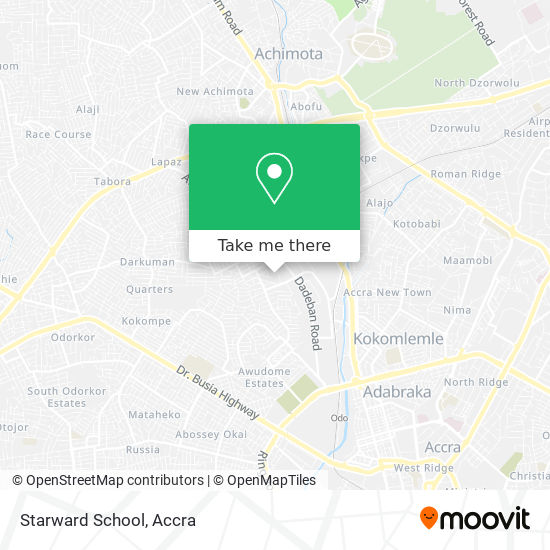 Starward School map