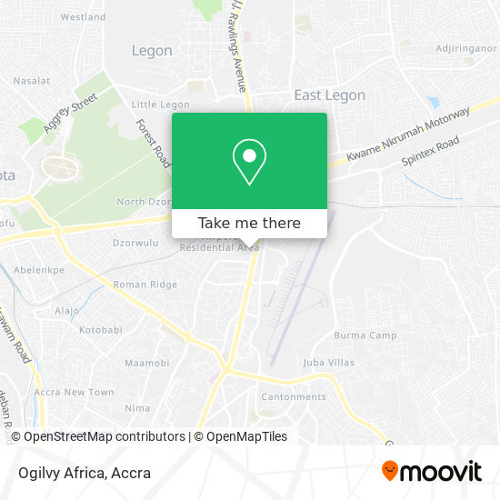 Ogilvy Africa map