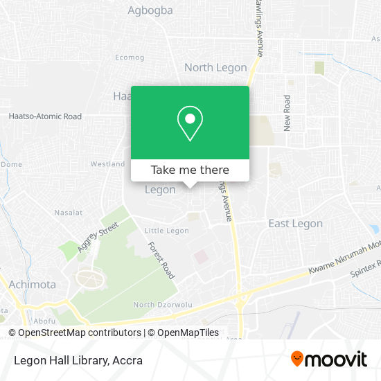 Legon Hall Library map