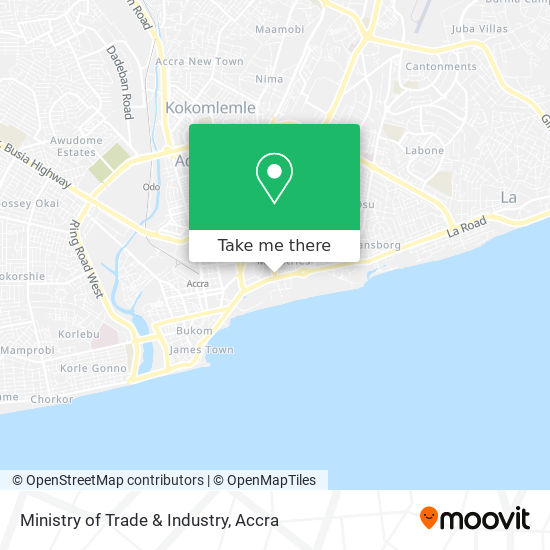 Ministry of Trade & Industry map