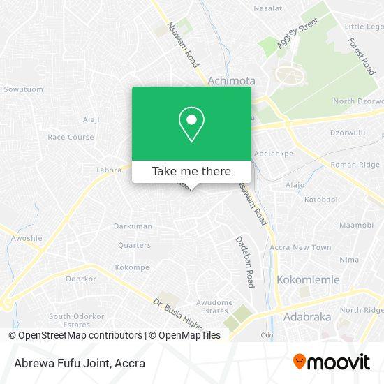 Abrewa Fufu Joint map